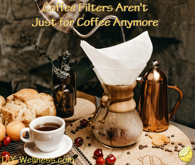Coffee Filters Aren't Just for Coffee Anymore! A free article brought to you by DIY-Wellness.com!