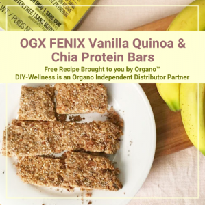 OGX FENIX Vanilla Quinoa & Chia Protein Bars Free Recipe Brought to you by Organo™! DIY-Wellness is an Organo Independent Distributor Partner!
